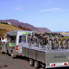 The Wolfmobile - Wolfhound Adventure Tours of Ireland- Hiking & Cycling Tours of Ireland
